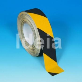 Teip Safety-Grip Hazard, abrasiivne, must/kollane, 50mm/18,3m