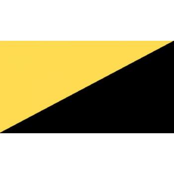 Teip, reflekteeruv (tagasipeegelduv) must/kollane, paremsuunaline, 50mm/10m
