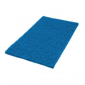 """Hõõruk põrandahooldusmasinale, sinine (sügavpesu), kandiline 14""""x20"""" (35x50cm)"""