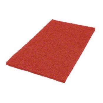 """Hõõruk põrandahooldusmasinale, punane (hoolduspuhastus), kandiline 14""""x28"""" (35x70cm)"""