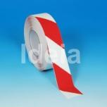Teip Safety-Grip Hazard, abrasiivne, punane/valge, 50mm/18,3m