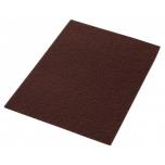 """Vahaeemaldushõõruk põrandahooldusmasinale, tumepruun (abrasiivne), kandiline 14"""" x 28"""" (35x70cm)"""