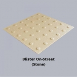 "Taktiilne plaat ""Blister On-Street"", 400x400mm, beež"