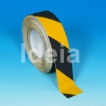 Teip Safety-Grip Hazard Conformable, pinna reljeefiga kohanduv, abrasiivne, must/kollane, 50mm/18,3m