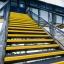 SlipGrip Heavy Duty libisemiskindel trepi astmekate, 345mm X 55mm, pikkus 1000mm, must plaat kollase ninaga